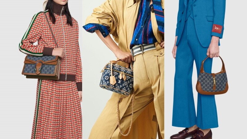 Gucci Jackie迷你包穿上牛仔新衣、CELINE Triomphe系列推出丹寧藍、LV爆款小包全新丹寧面料登場…2021全新丹寧精品包都在這