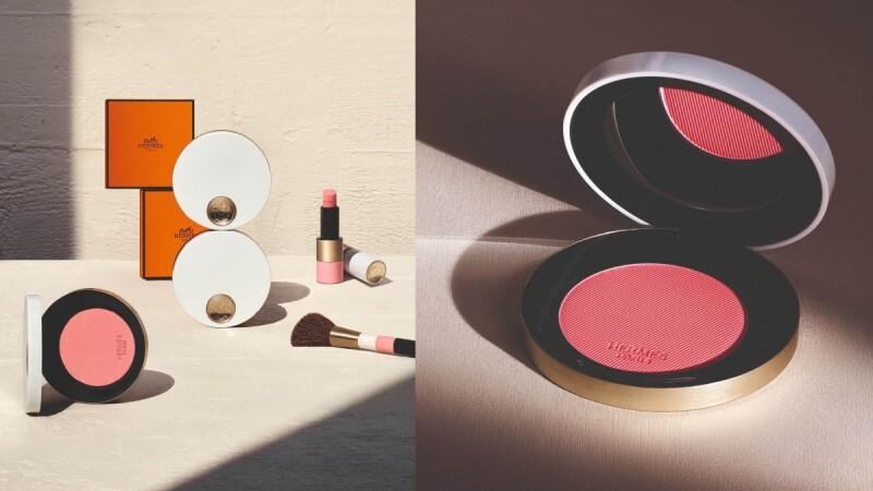 愛馬仕HERMES彩妝2021推出全新腮紅,玫瑰色系搭配白色陶瓷外殼顏值太高,保證再讓彩妝控瘋狂