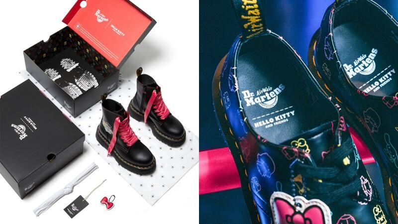 馬汀鞋攜手Hello Kitty、雙子星、酷企鵝...打造聯名系列!經典1460、三孔1461、厚底馬汀靴全都在內