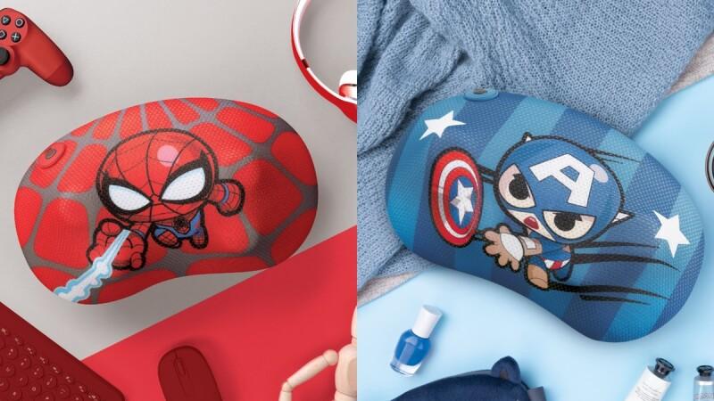OSIM暖摩枕推出漫威限定款!美國隊長、鋼鐵人、蜘蛛人Q版超級英雄圖案,漫威粉絲必收一波