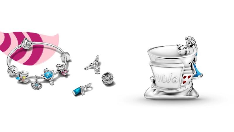 Pandora X 愛麗絲夢遊仙境聯名系列推出6款串飾、手環!全新妙妙貓釦頭手環必入手