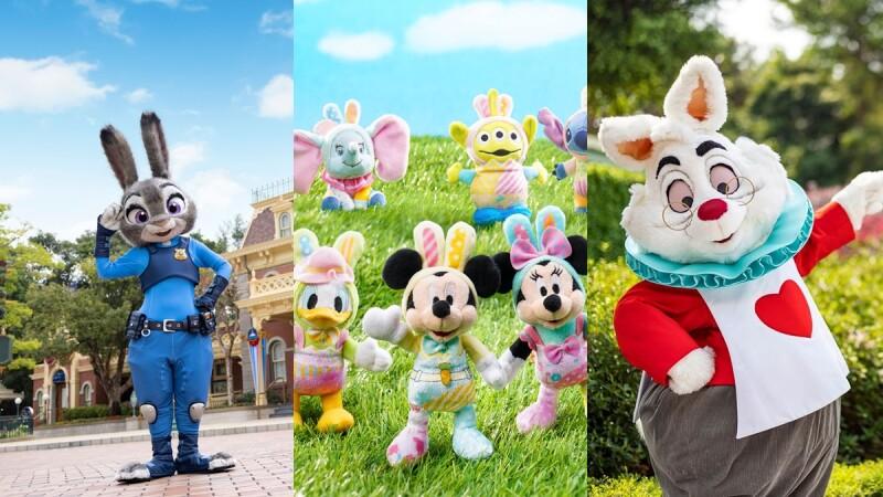 米奇、米妮戴兔耳朵太可愛!香港迪士尼春季周邊、美食萌到失心瘋,還派出復活節限定兔子主角穿梭樂園