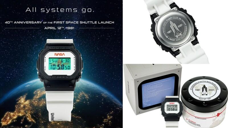太空迷注意!G-Shock推出NASA美國限定錶款,從外包裝到錶身完整記錄第一架太空梭發射40週年歷史