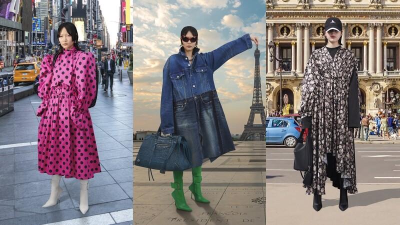 2021秋冬巴黎時裝週 模特兒化身觀光客走訪巴黎鐵塔、埃及金字塔、羅馬競技場…Balenciaga大秀完成環遊世界的美夢