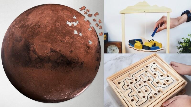 宅在家挑戰1000片火星拼圖!Pinkoi推薦5大益智桌遊,還能打造專屬「雲霄飛車」,手腦一起動起來