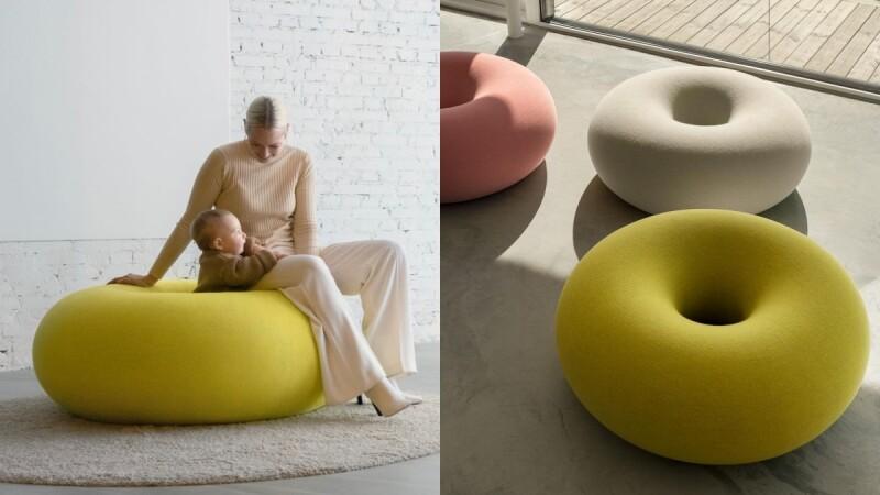 坐上去就起不來!瑞典「巨大甜甜圈座椅」超萌問世,棉花糖輕甜色調、無接縫設計,立刻為居家空間療癒加分