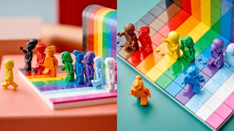 樂高首度推出「彩虹積木盒組」!慶祝同志驕傲月,每隻人偶髮型、顏色都不同,更有著深遠設計意義