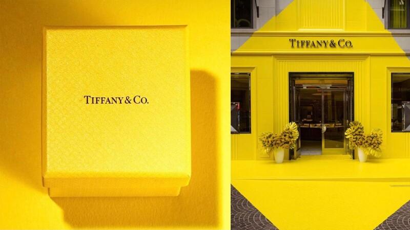 Tiffany Blue夢幻小藍盒不再?Tiffany Yellow限定店開張,裝潢牆面、珠寶包裝、紙盒...全換上新色,揭密幕後原因|珠寶小學堂