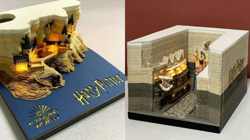 麻瓜必入手!《哈利波特》場景變身「世界最美便條紙」,撕完150張後會看到霍格華滋、斜角巷