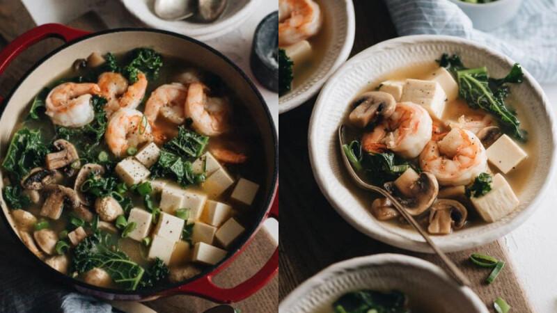 3道增強抵抗力的低脂餐:蒜蓉烤香菇/野菇蝦仁蛋花湯/海藻香菇蛋花湯食譜來了!