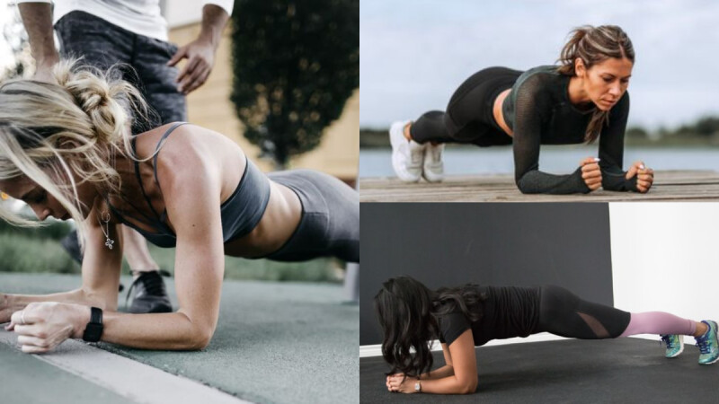 平板棒式 從肩部到小腿、再到全身肌肉都可以訓練得到!