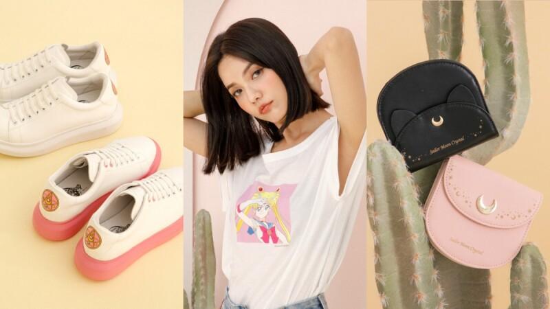 呼叫美戰迷!Grace Gift再度聯手美少女戰士,打造短TEE、牛仔褲、穆勒鞋、厚底小白鞋、長夾…10大聯名品項