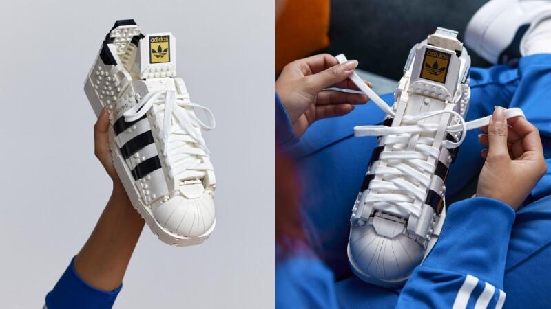 愛迪達經典Superstar球鞋變樂高積木!Lego神還原貝殼鞋頭、三葉草標誌,超高擬真度逼鞋控入手
