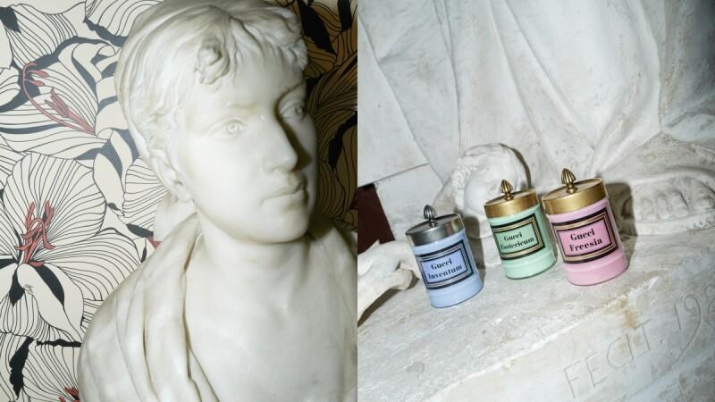 Gucci Decor 2021浪漫主義家飾系列藏著絕美彩色玻璃罐蠟燭,粉彩綠、煙霧藍、玫瑰粉讓人選擇困難