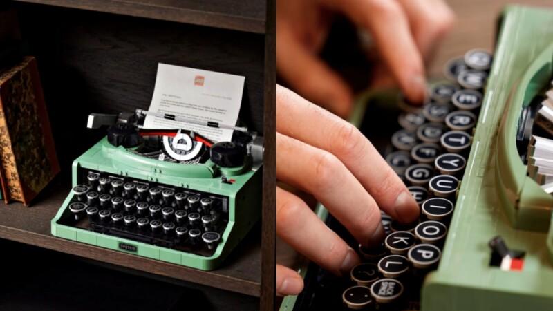 逼真程度100分!樂高Lego推出「薄荷綠復古打字機」,打字、撥桿、放紙張都可以,懷舊風格太迷人