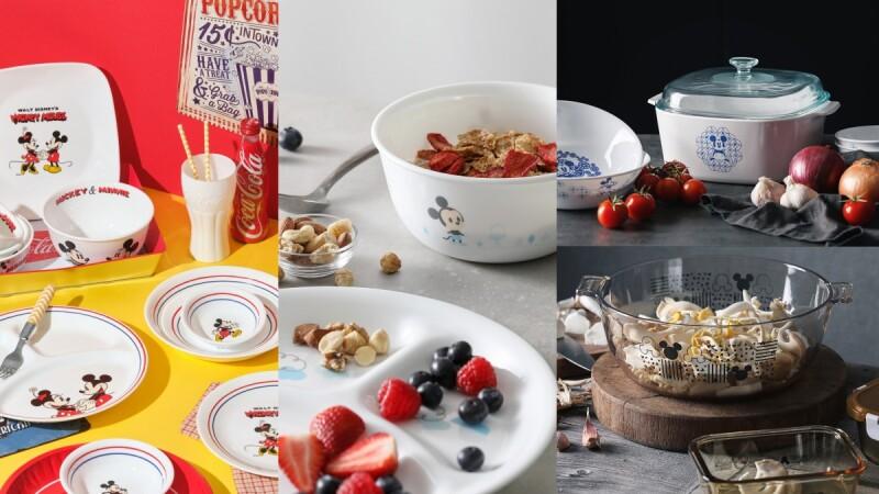 米奇米妮躍上餐桌!康寧餐具X迪士尼推出米奇米妮4大主題餐具,青花瓷、童趣風、幾何塗鴉超萌登場,3大網購平台優惠大公開