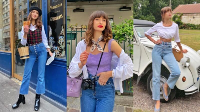 牛仔 の 萬種搭法!法國女孩 Dolorès「法式丹寧」穿搭術,同場加映全法國少女為之瘋狂神單品