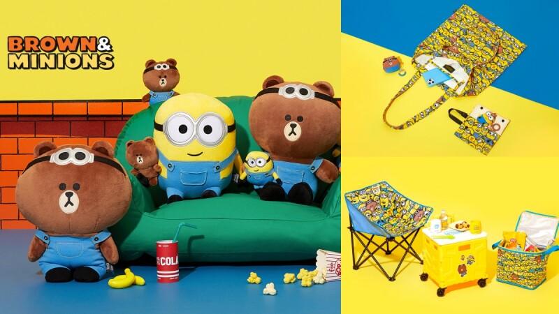 熊大穿吊帶褲可愛度破表!LINE FRIENDS驚喜聯名小小兵,玩偶、托特包、露營用品…全萌到心臟爆擊