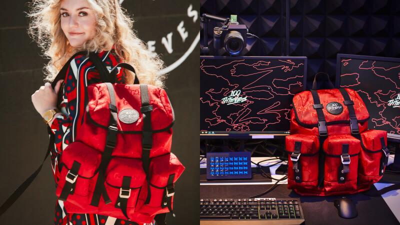 Gucci跨界攜手電競組織100 Thieves推出環保後背包!熾熱暖陽紅色,全球只有200個