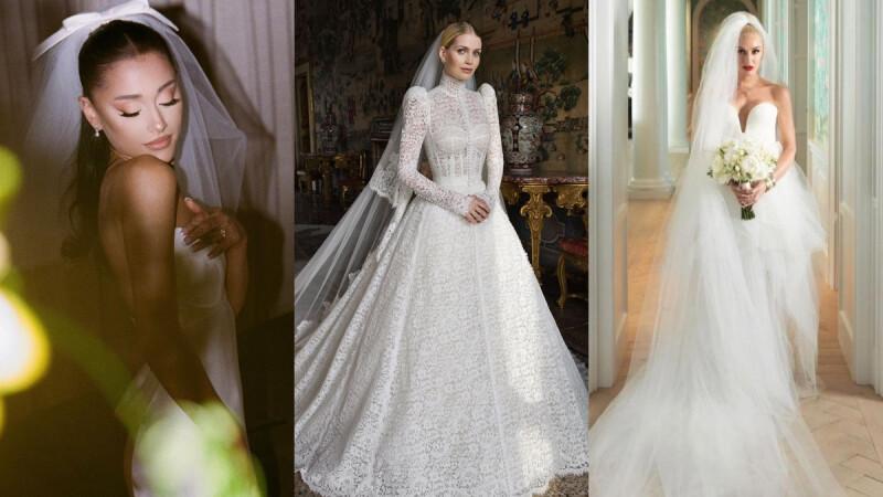 黛安娜王妃親姪女凱蒂史賓塞貴氣D&G訂製白紗!亞莉安娜、關史蒂芬妮…2021七位絕美女明星婚紗盤點
