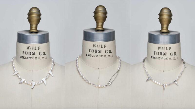 MIKIMOTO聯名COMME des GARÇONS第二波!2021年再推7款珍珠項鍊,別針、尖牙、鉚釘設計細節與售價完整看