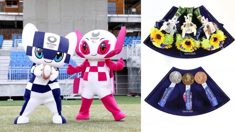 奧運勝利花束藏洋蔥,以311大地震災區花材製作,是對選手的祝福也象徵重生的日本
