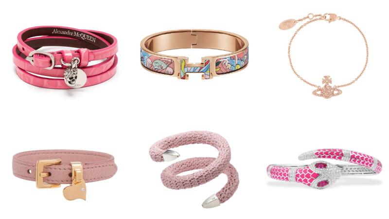 2021七夕情人節粉紅色系手環推薦!個性、甜美風格都有,愛馬仕印花珐瑯、APM Monaco蛇頭…7款精品手環盤點