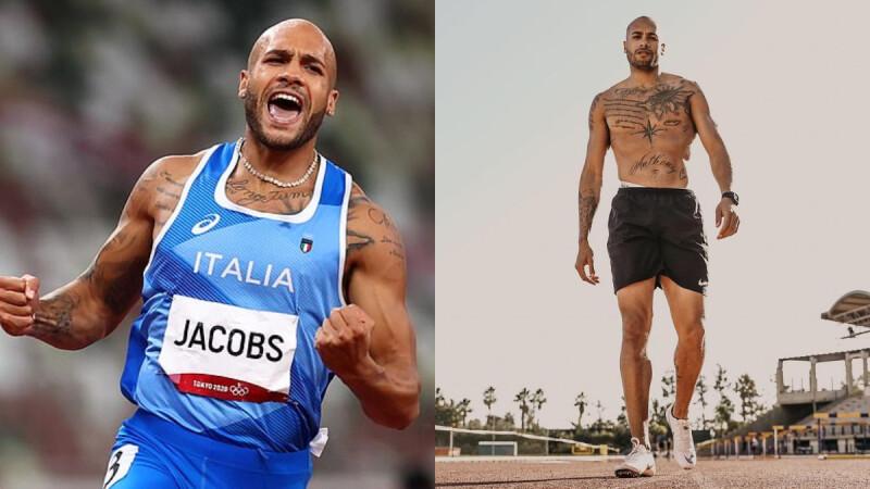 認識世界跑最快的男人Marcell Jacobs!26歲義大利刺青型男,被評獲勝機率只有3%,去年才找到失散25年的父親