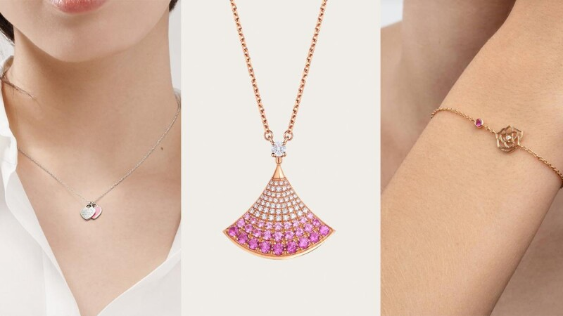 情人節禮物女友「粉紅色」珠寶首飾特搜:Tiffany、寶格麗項鍊、Chaumet、Piaget手鏈、Cartier耳環、Harry Winston手錶