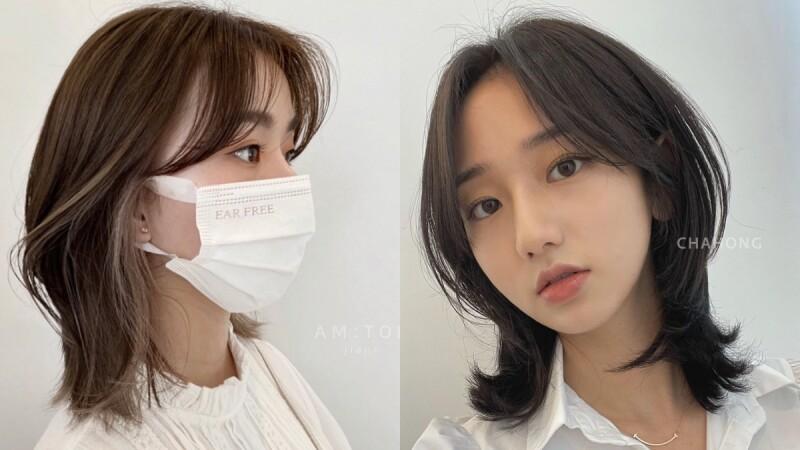 2021中短髮髮型推薦:韓系微水母復古層次剪,修飾下顎線又不怕亂翹!
