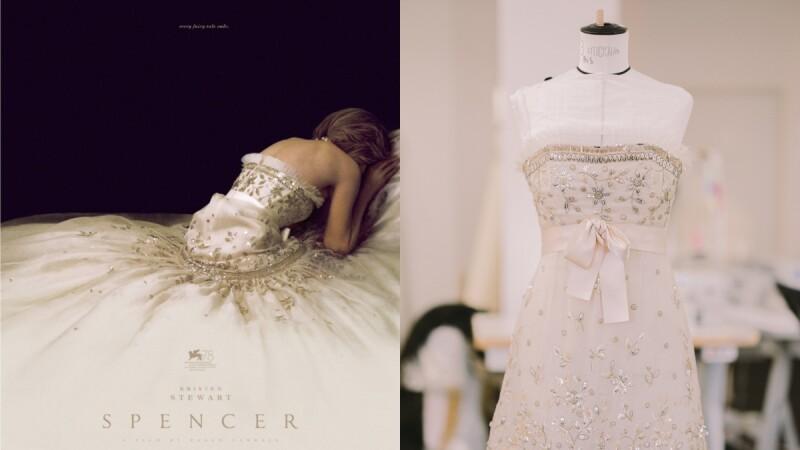 Kristen Stewart主演《Spencer》海報絕美禮服出自Chanel之手!近看700小時的手工刺繡細節