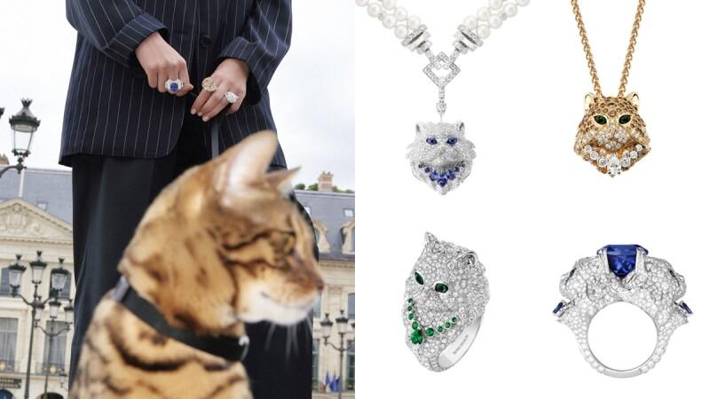 喵星人出沒!Boucheron貓咪系列珍珠項鍊、胸針與戒指2021新款登場