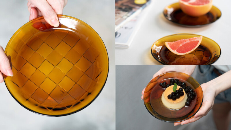 AKAME 以部落編織為靈感,與HMM、春池玻璃共同創作「琥珀玻璃編織盤」