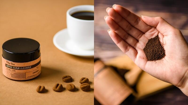 韓國的Pilling Bean主打咖啡渣保養品,咖啡豆形狀的臉部去角質太可愛