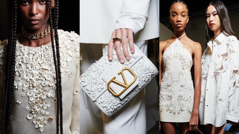 2022春夏巴黎時裝週 Valentino擴大秀場規模走上街頭,白花齊放的浪漫演繹品牌經典