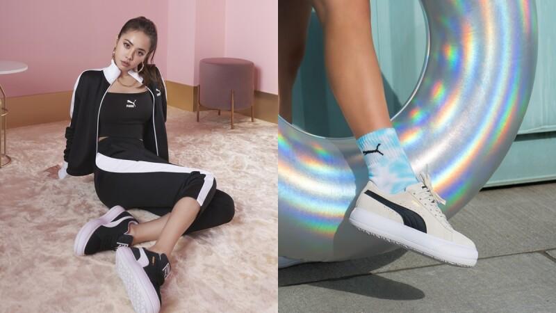 蔡依林搶先穿Puma厚底小白鞋SUEDE MAYU,精品級包包SENSE系列新問世