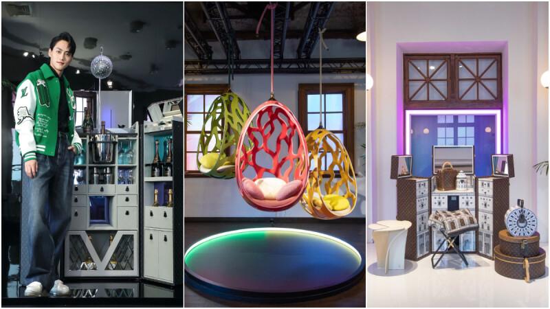 LV 路易威登 Savoir Faire 工藝展,除了經典吊床和梳妝台,玻璃盆栽箱、透明球鞋櫃、派對酒吧行李箱...全都超狂的!