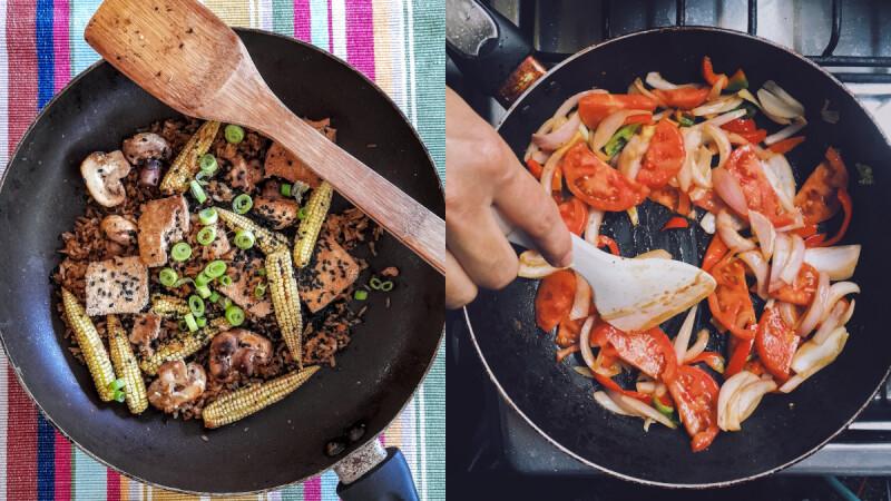 青椒魯肉燜豆腐/蔥香蒜蓉蝦/花椰菜嫩炒鮮菇,3道輕鬆做就很美味的低脂炒菜食譜!