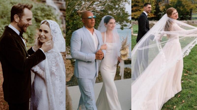 保羅沃克之女、比爾蓋茲女兒十月新嫁娘!甜美、仙氣風格都有,2021十大歐美女星的夢幻婚紗盤點
