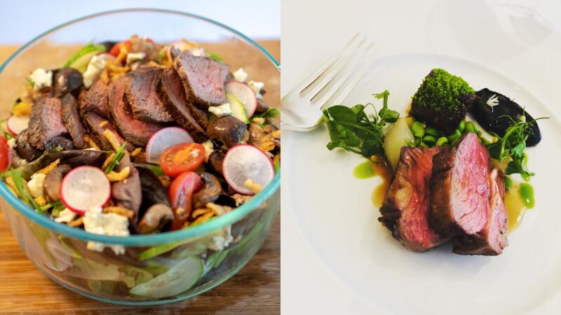 日式火山牛排藜麥飯/蒜香牛排蔬食沙拉/薄荷辣醬牛排,3道牛排生酮減脂餐,讓你吃肉不長肉!
