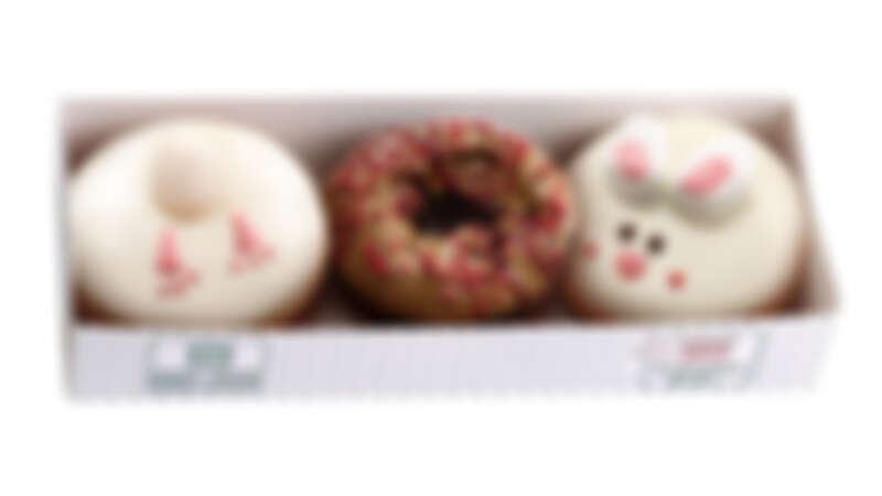 可愛萌樣過中秋!Krispy Kreme推出小兔子造型甜甜圈