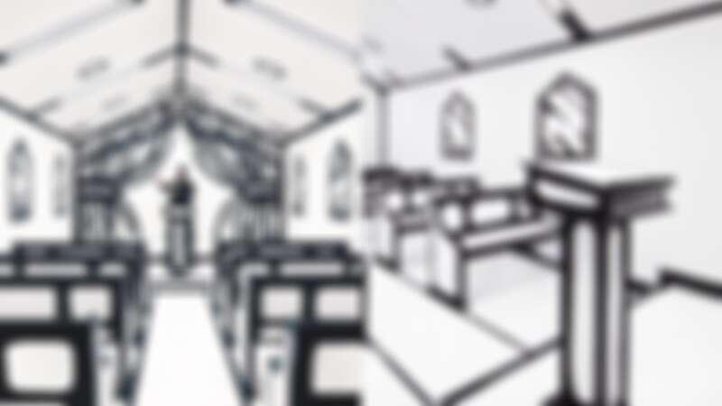 就好像進到漫畫裡!拉斯維加斯的超現實2D教堂,這種黑白色調的婚禮風格你喜歡嗎