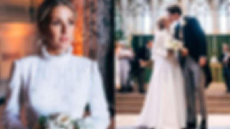 艾麗高登結婚了!和27歲男友教堂舉辦浪漫婚禮,絕美相吻甜蜜婚照曝光