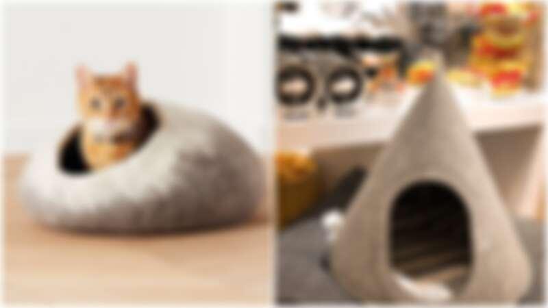 Crate and Barrel首度引進寵物系列!手工羊毛氈帳棚窩爆炸可愛,快幫毛小孩的居家空間大升級