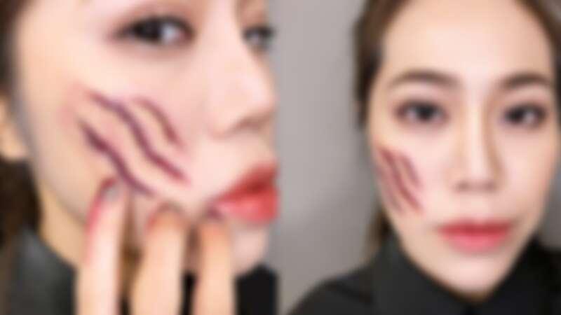 最簡單的萬聖節化妝教學!「超逼真貓抓疤痕」必學,用手邊的唇蜜、口紅膠就能搞定,再手殘也會畫