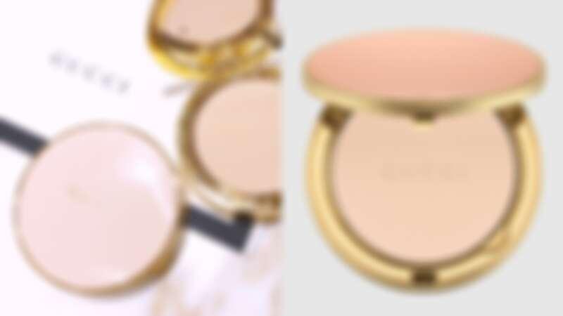 GUCCI 超夢幻粉餅台灣開賣!石英粉紅外盒配上鑲金邊框,真的美炸