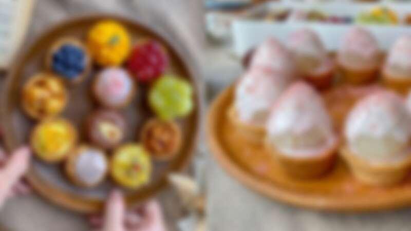 【永和甜點店】三文鳥甜點巢推超夢幻粉紅荔枝塔,必吃迷你甜點塔一口剛剛好