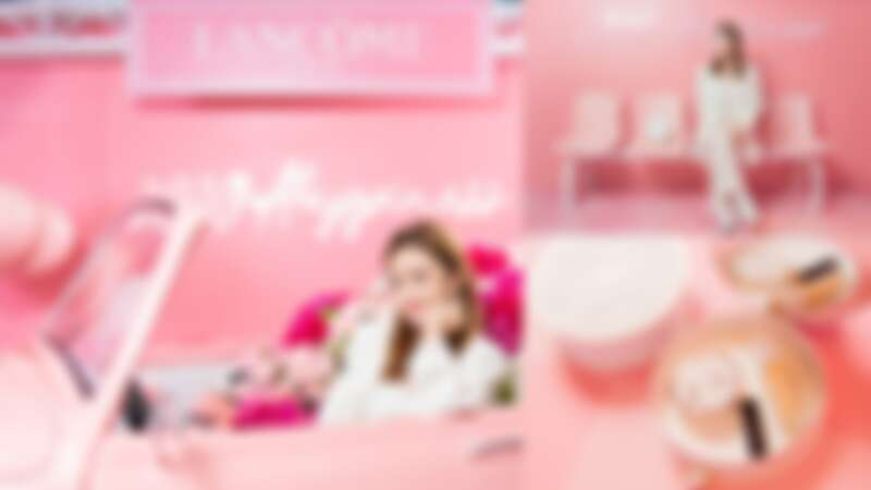 蘭蔻85週年打造「幸福公路快閃店」最狂粉紅打卡點,還有一對一彩妝服務、限定產品,再加贈大理石收納盒