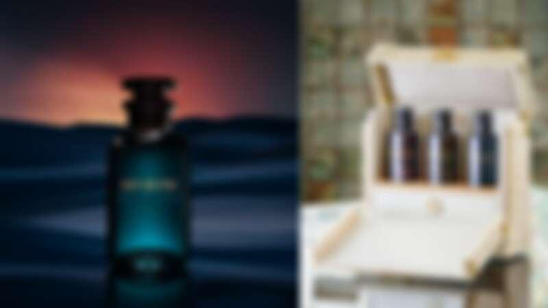 LV路易威登中東香水系列推出第三罐Nuit de Feu,還推出超奢華的黃金鱷魚皮革香水行李箱