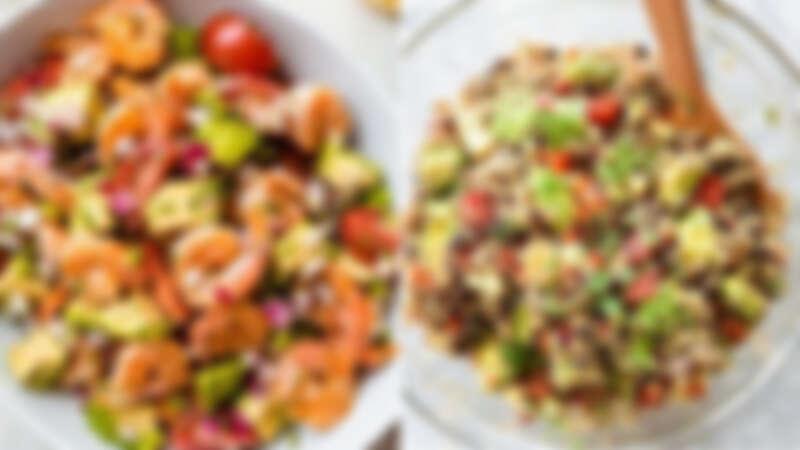 這樣搭最完美!適合夏日吃的低脂藜麥鮮蝦沙拉來了!內附自製油醋汁調製配方!